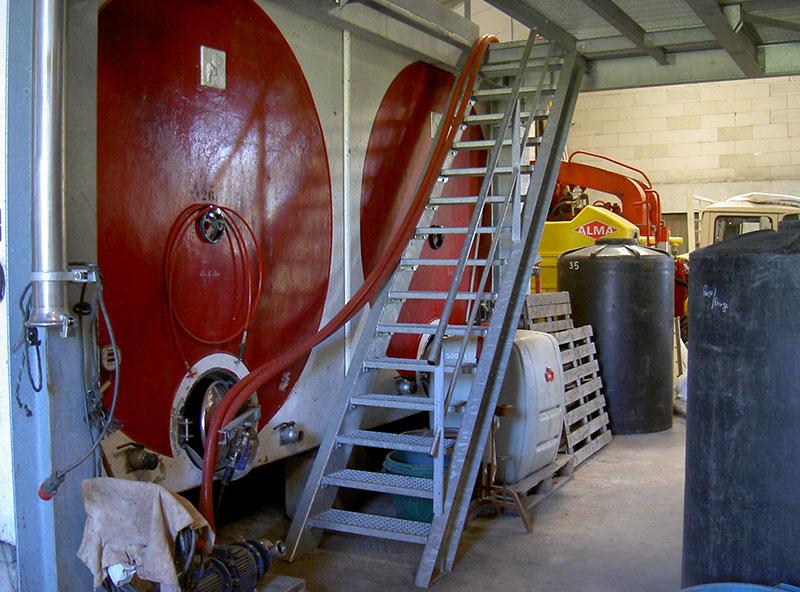 Escalier intérieur industriel métallique