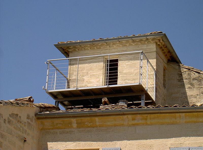 Structure Metallique Balcon Suspendu Marconnet
