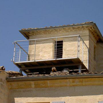 Garde corps terrasse suspendue et balcon
