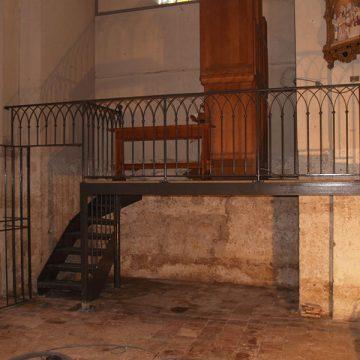 Garde corps mezzanine église