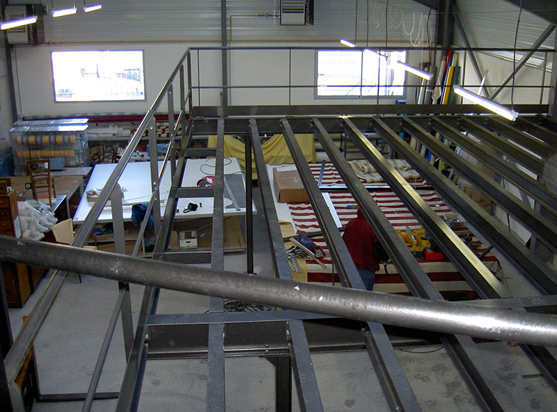 Mezzanine métallique de stockage