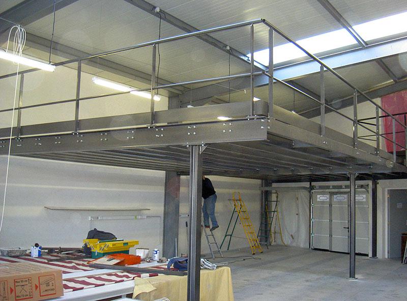 Plancher métallique mezzanine ferronnier