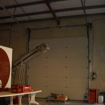 Porte sectionnelle industrielle motorisée