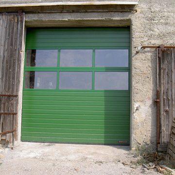 Porte sectionnelle Hörmann panneau vitré