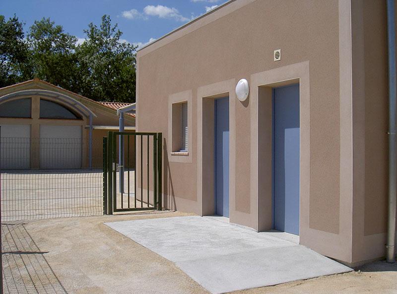 Portillon école clôture d'accès