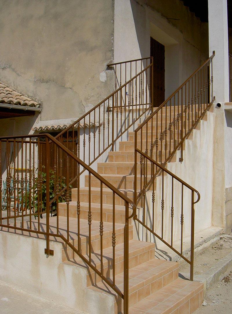 Rampe escalier ferronnier