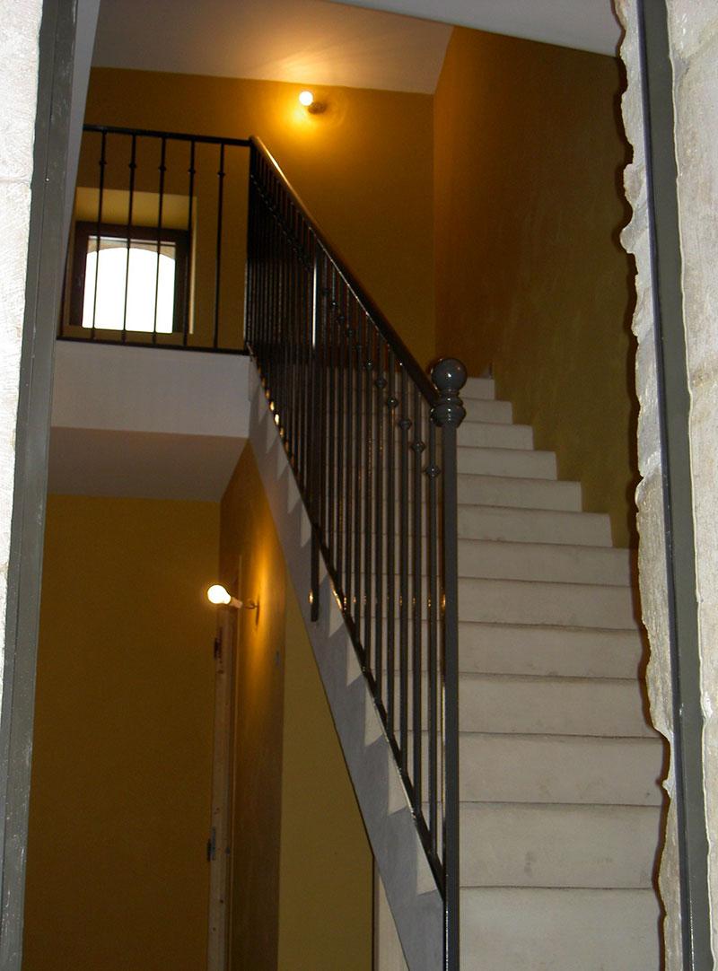 Rampe escalier barreaudage