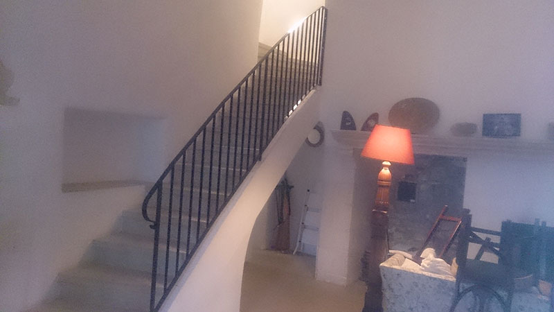 Rampe escalier cintrée