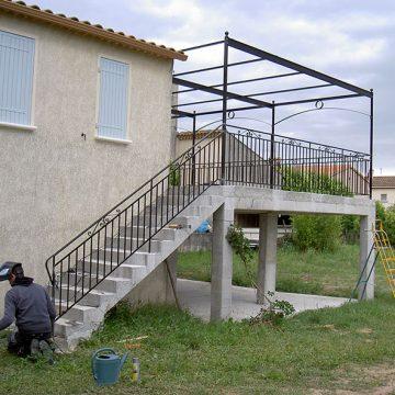 Rampe garde corps terrasse
