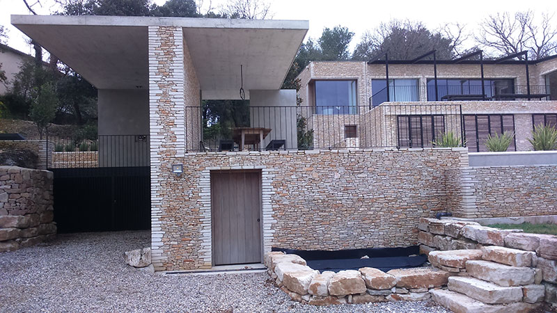 Rampe thermolaquée de terrasse design