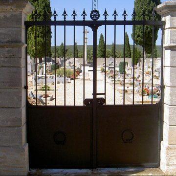 Restauration portail cimetière