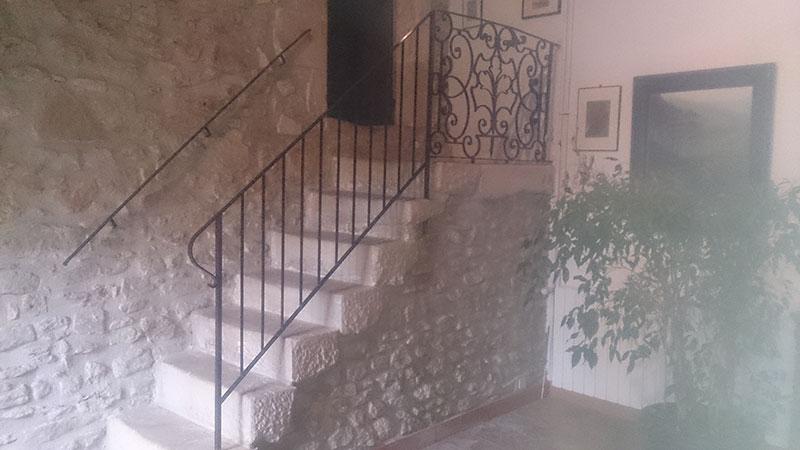 Restauration rampe ancienne avec main courante