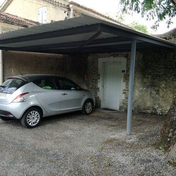 Abris voiture toiture bac acier