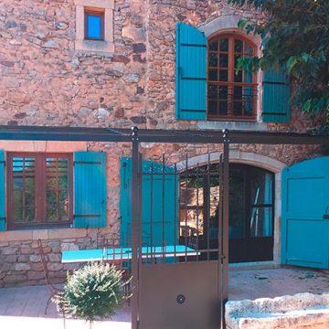 Tonnelle métallique thermolaqué portillon villa
