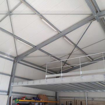 Batiment galva bardage toiture isolant