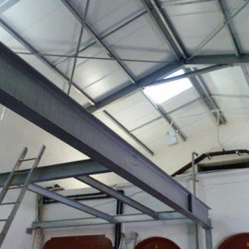 Montage plancher préssoir métallique