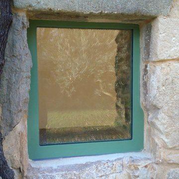 Cadre fenêtre fixe vitre thermolaquée