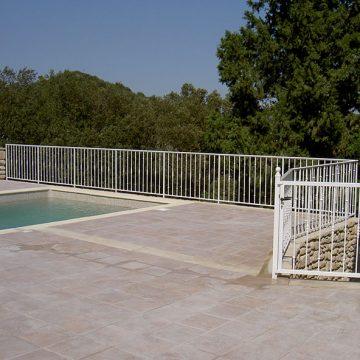 Garde corps grille protection piscine portillon