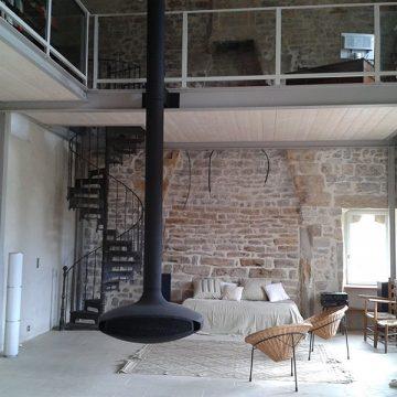 Plancher métallique intérieur maison sur mesure
