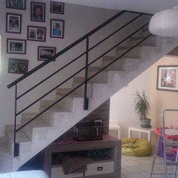 Rampe escalier ouverture étage