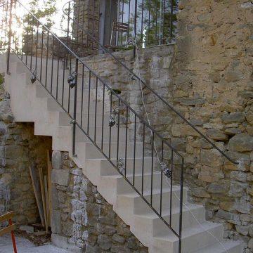 Rampe escalier et main courante Gourdargues