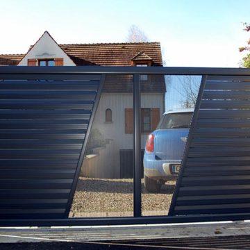 Portail coulissant design illinois